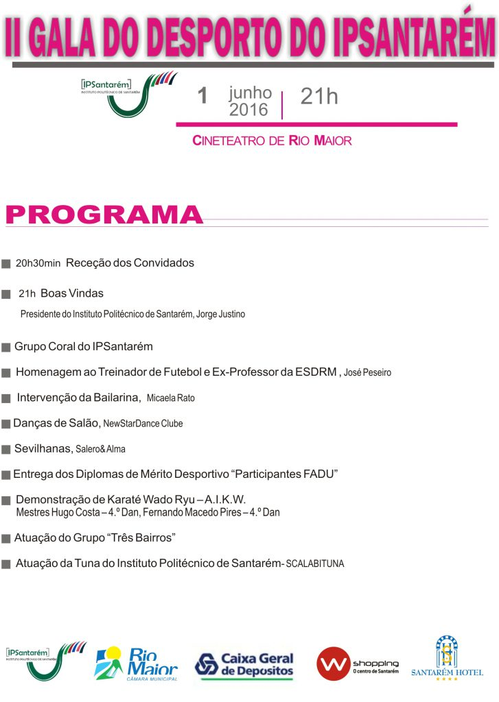 Programa II Gala de Desporto - ESDRM-1